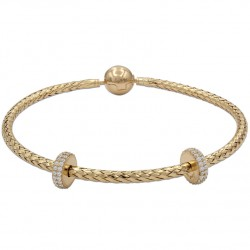 Pulsera charms flexible oro
