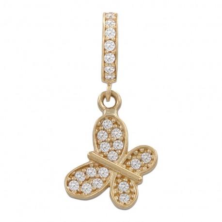 Charms colgante mariposa oro