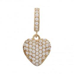 Charms colgante corazón circonitas oro