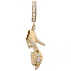 Charms colgante zapato oro