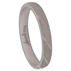 Alianza plata 925mm tallada 3 mm