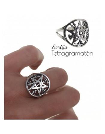 Anillo plata tetragramatón