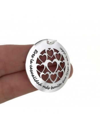 Colgante plata corazones y...
