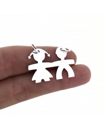 Colgante plata niño y niña
