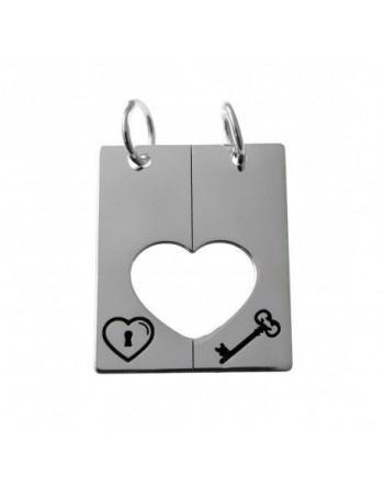 Colgt. plata corazón partido