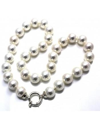 Collar de plata y perlas shell