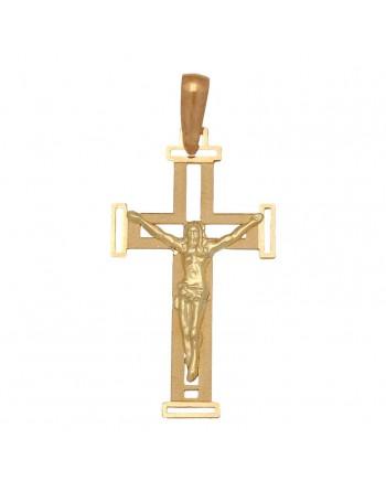 Cruz oro amarillo 18k comunión