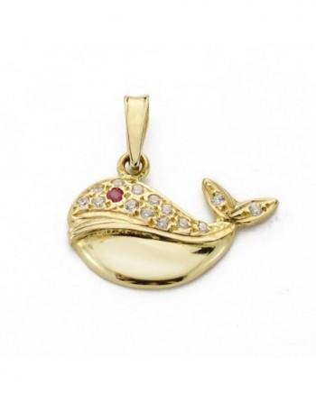 Colgante oro18k ballena
