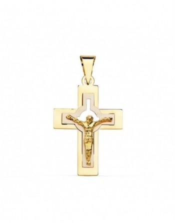 Cruz comunión oro bicolor...