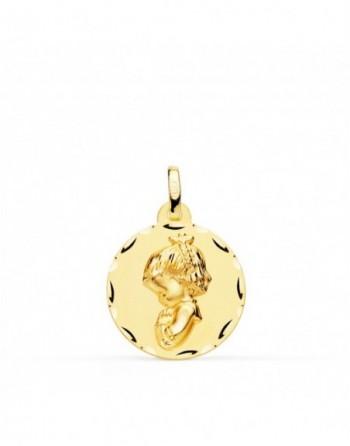Medalla oro amarillo 18k...