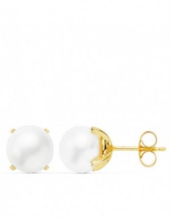 Pendientes oro18k perla