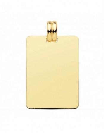 Placa rectangular oro...