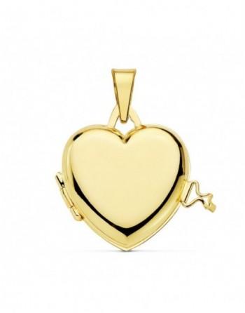 Portafotos oro18k corazón liso