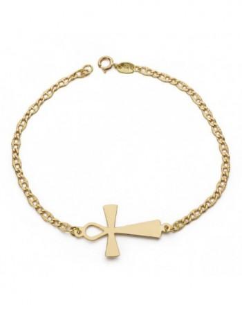 Pulsera oro18k cruz egipcia